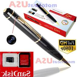 32GB Spy Hidden Camera Pen HD 1080P Video DV/DVR Camcorder R