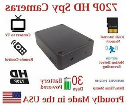 AES 30 Day Battery Powered 720P Black Box Mobile Wireless Sp