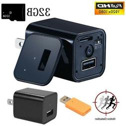 HD 1080P Camera USB Wall Charger Video Recorder Surveillance