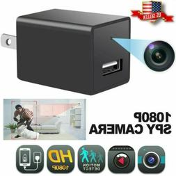 HD 1080P Spy Hidden Camera Wall Charger Adapter Video Securi
