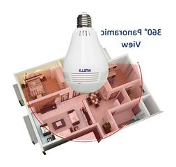 HD Home Light Bulb Security Camera 2.4 GHz with 360° Panora