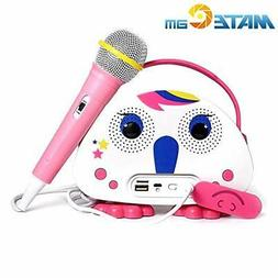 MATECam Kids Bluetooth Karaoke Machine with Microphone, Chil