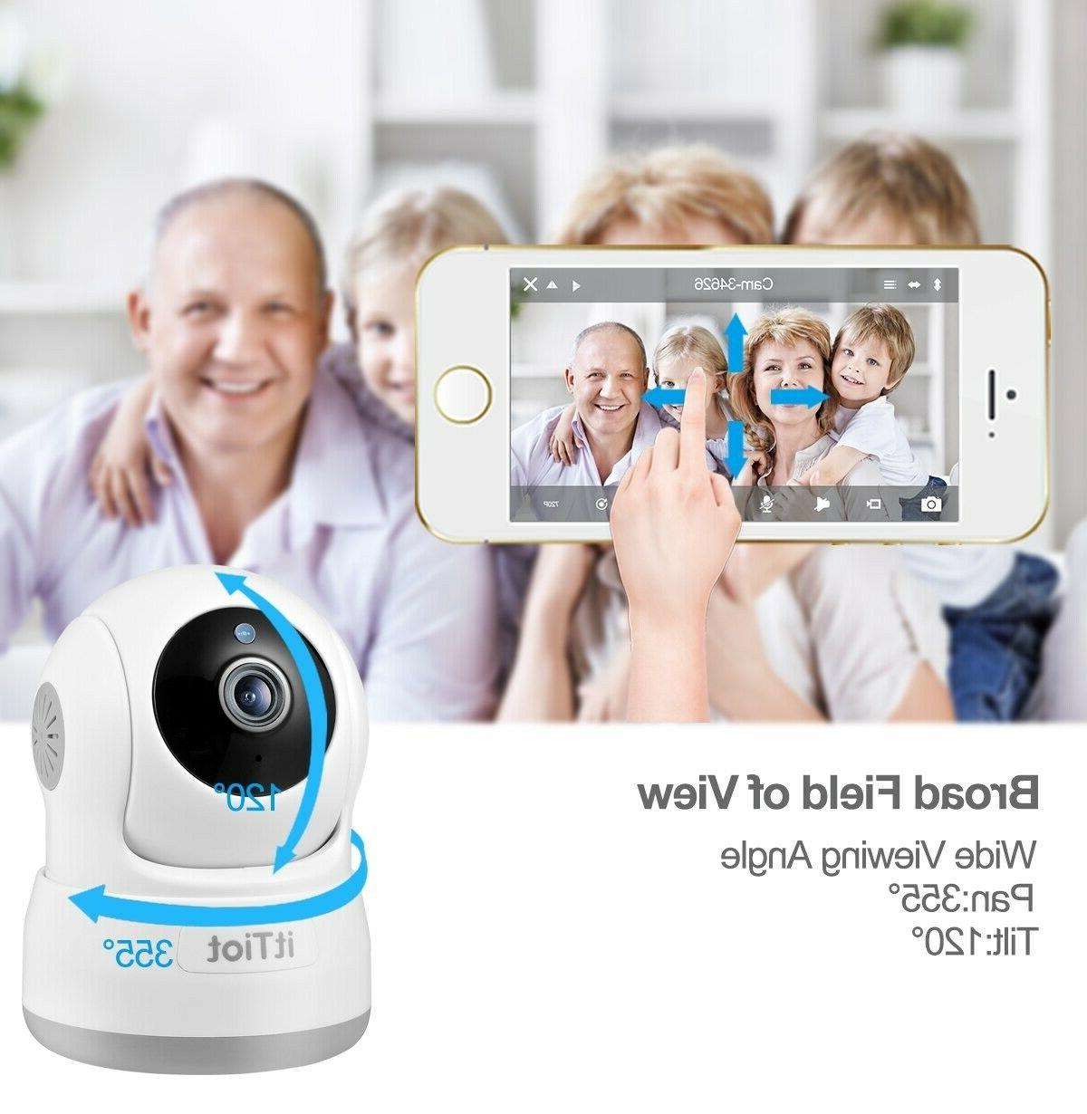 NIGHTVISION Wireless IP Security Camera Baby Monitor Two Way Tilt Zoom