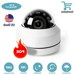POE IP 2.0MP Camera PTZ Dome Security 4X Zoom HD 1080P Pan T