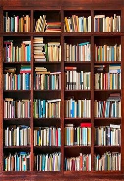 Roll over image to zoom in AOFOTO 5x7ft Bookshelf Background