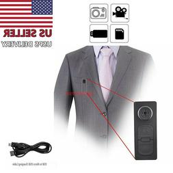 Spy Hidden Camera Motion Detection Shirt Button Pinhole Nann